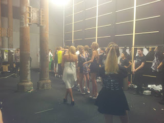 volunteering backstage at mbfwa