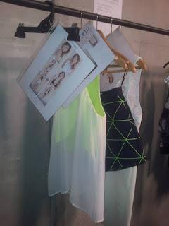 cameo grid print fashion week backstage