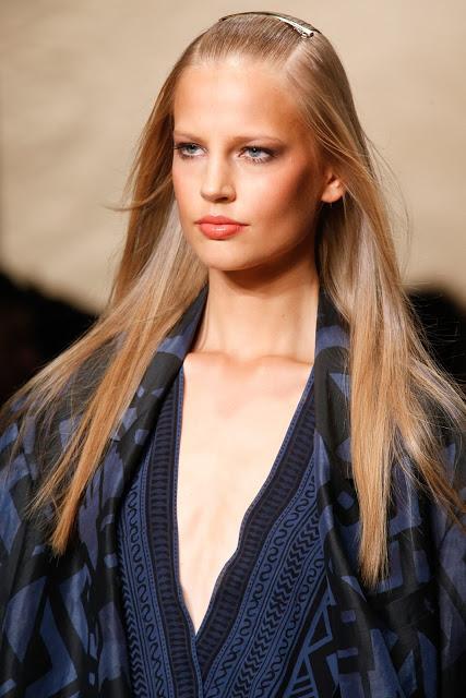 smooth sleek straight hair donna karen