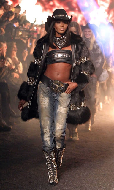 naomi cambell milan fashion week phillip plein