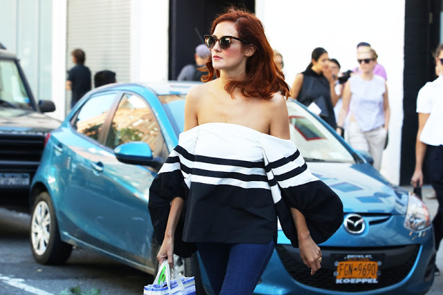 how to style off shoulder top