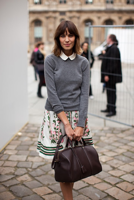 alexa chung preppy style icon collared shirt
