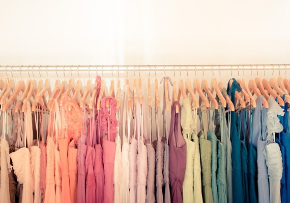 colour coded closet