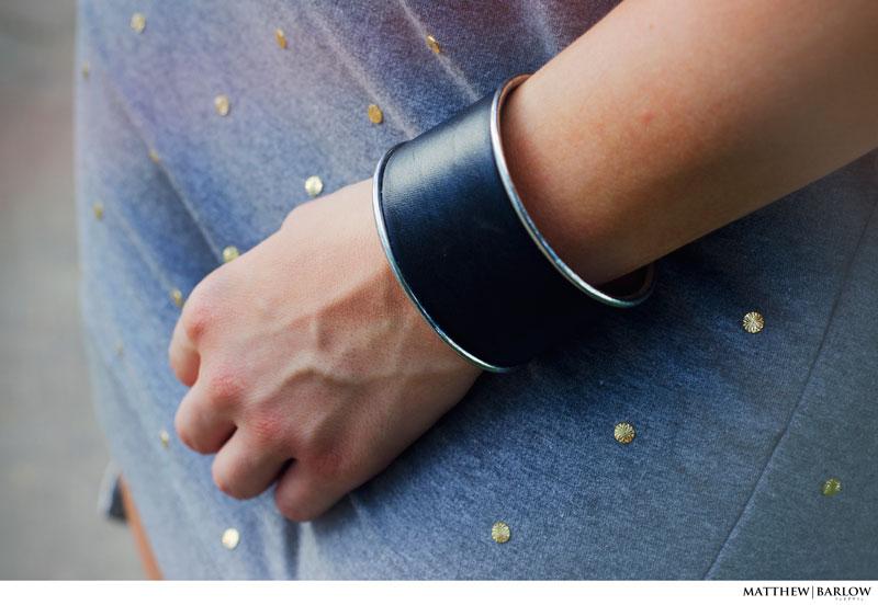 statement leather cuff