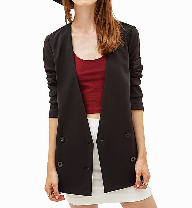 http://www.stylemoi.nu/double-breasted-collarless-suit-blazer.html