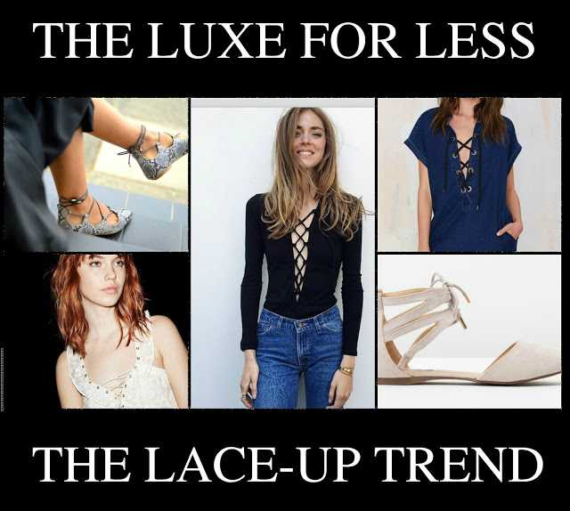 The Luxe For Less: The Lace-Up Trend