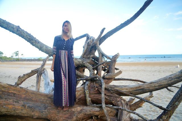 floral maxi dress beach