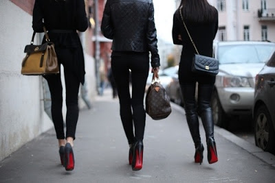 Louboutin shoes street style