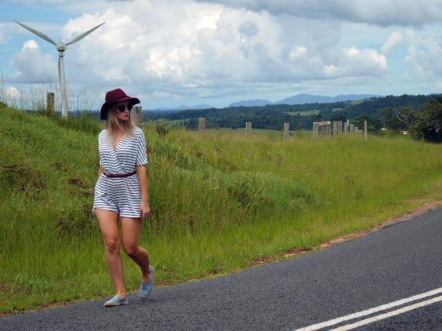 girl walking road