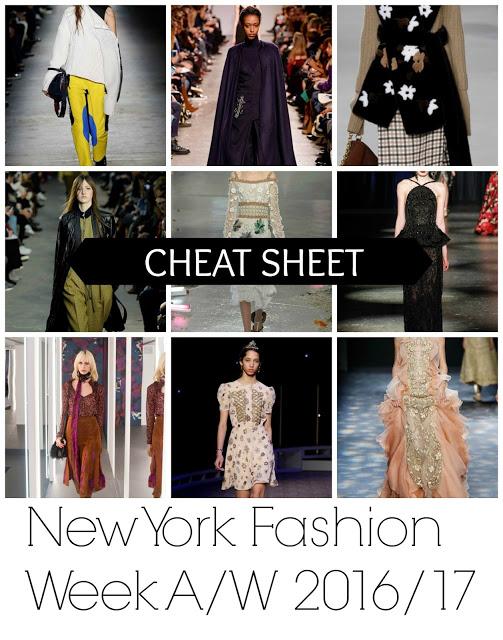 New York Fashion Week A/W 16-17: The Cheat Sheet