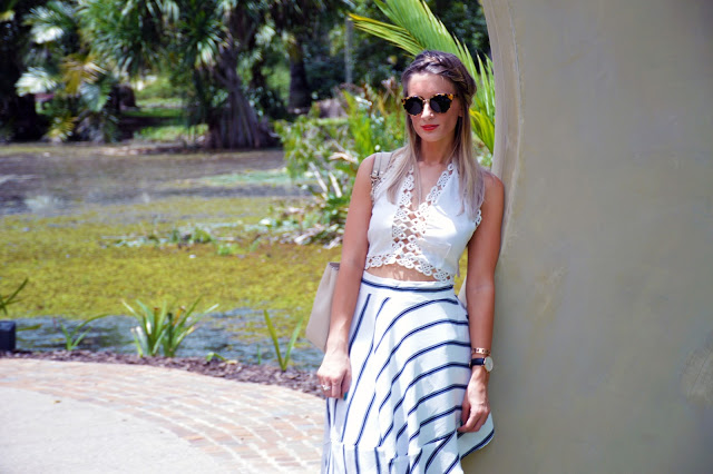 summer stripe outfit