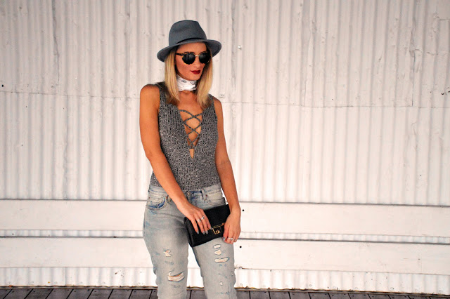 lace up bodysuit street style