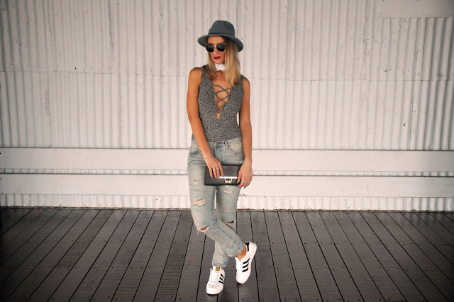lace up bodysuit jeans