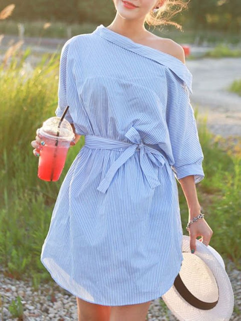 backwards shirtdress