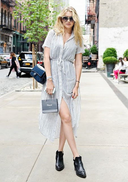 Gigi Hadid shirt dress