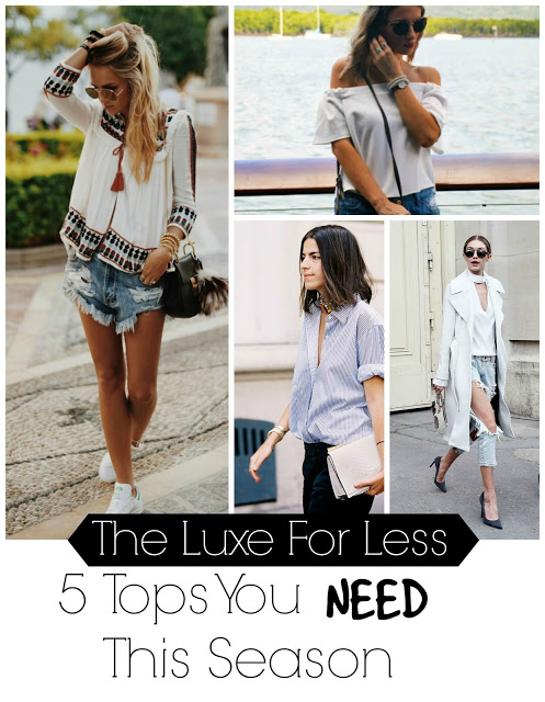 The Luxe For Less: 5 Tops You NEED This Season