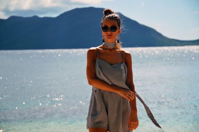 pastel playsuit beach