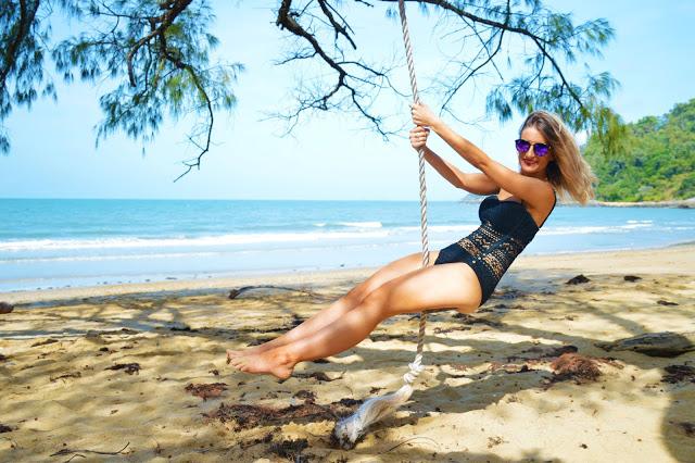 beach swing paradise