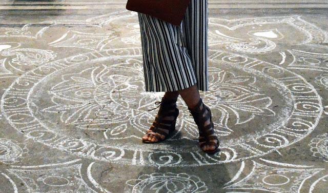 striped culottes zara