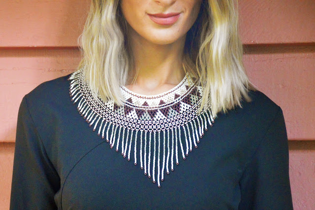 boho fringe necklace