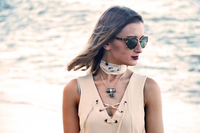 lace up neckline