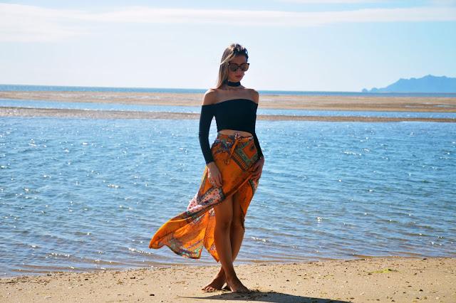 boho beach outfit
