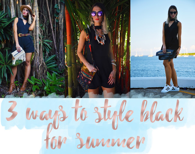 3 Ways To Style Black For Summer