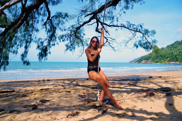 beach swing in paradise