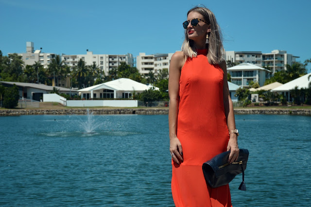 how to style orange orange dress outfit idea