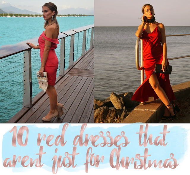 10 red dresses that are not just for christmas