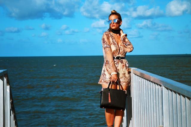sequin embellished playsuit boho