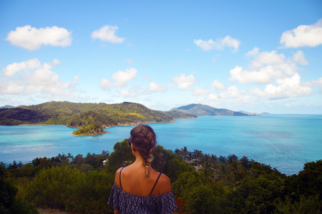 view of whitsunday islands from hamilton island
