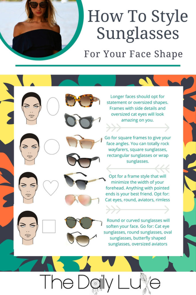 how to style sunglasses for your face shape