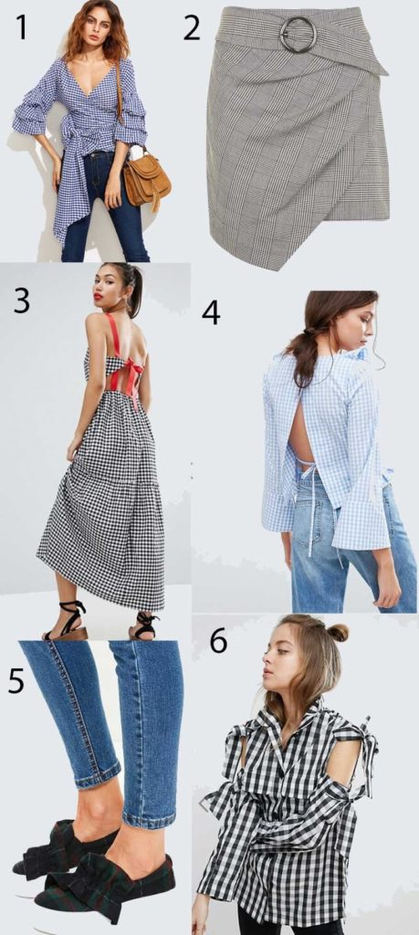 shop on trend gingham pieces 2017