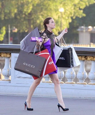 Blair waldorf gossip girl designer shopping spree