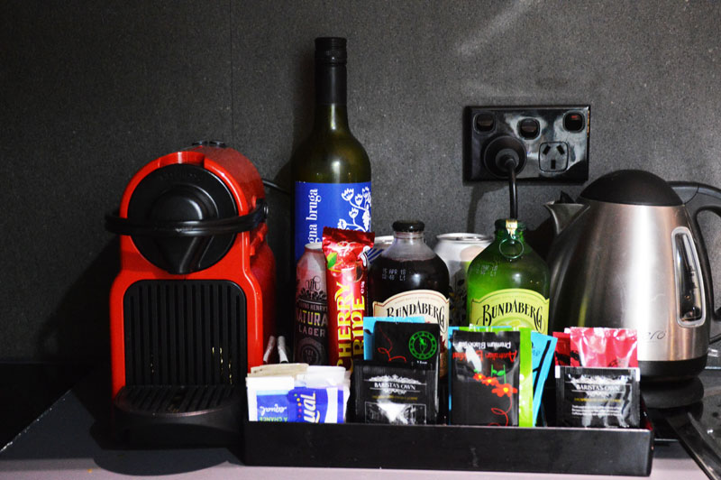 the urban newtown sydney hotel with free minibar and espresso machine
