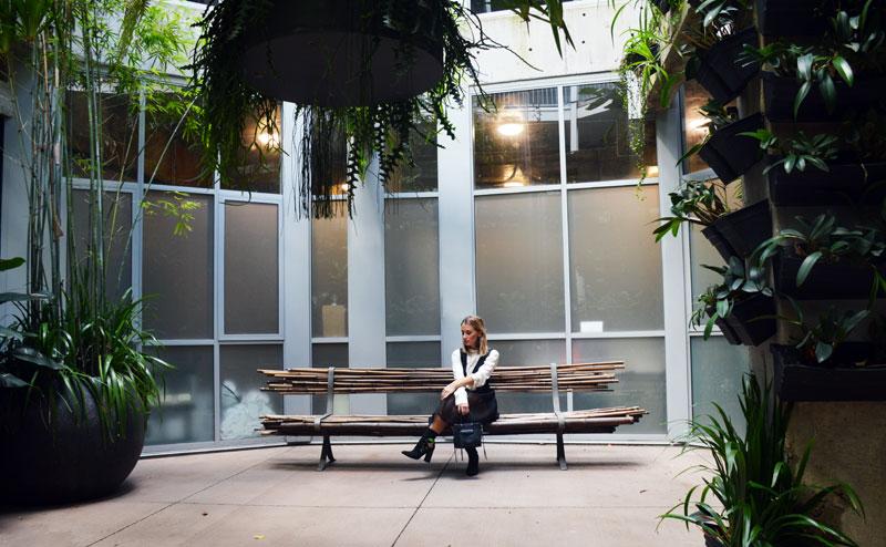 the urban newtown sydney industrial chic hotel courtyard