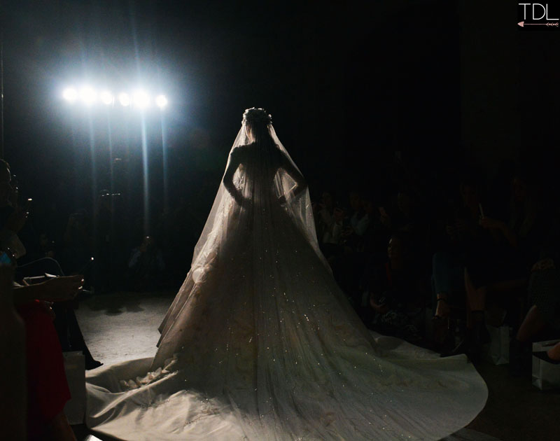 Steven khalil $100,000 wedding dress at mbfwa mercedes benz fashion week australia