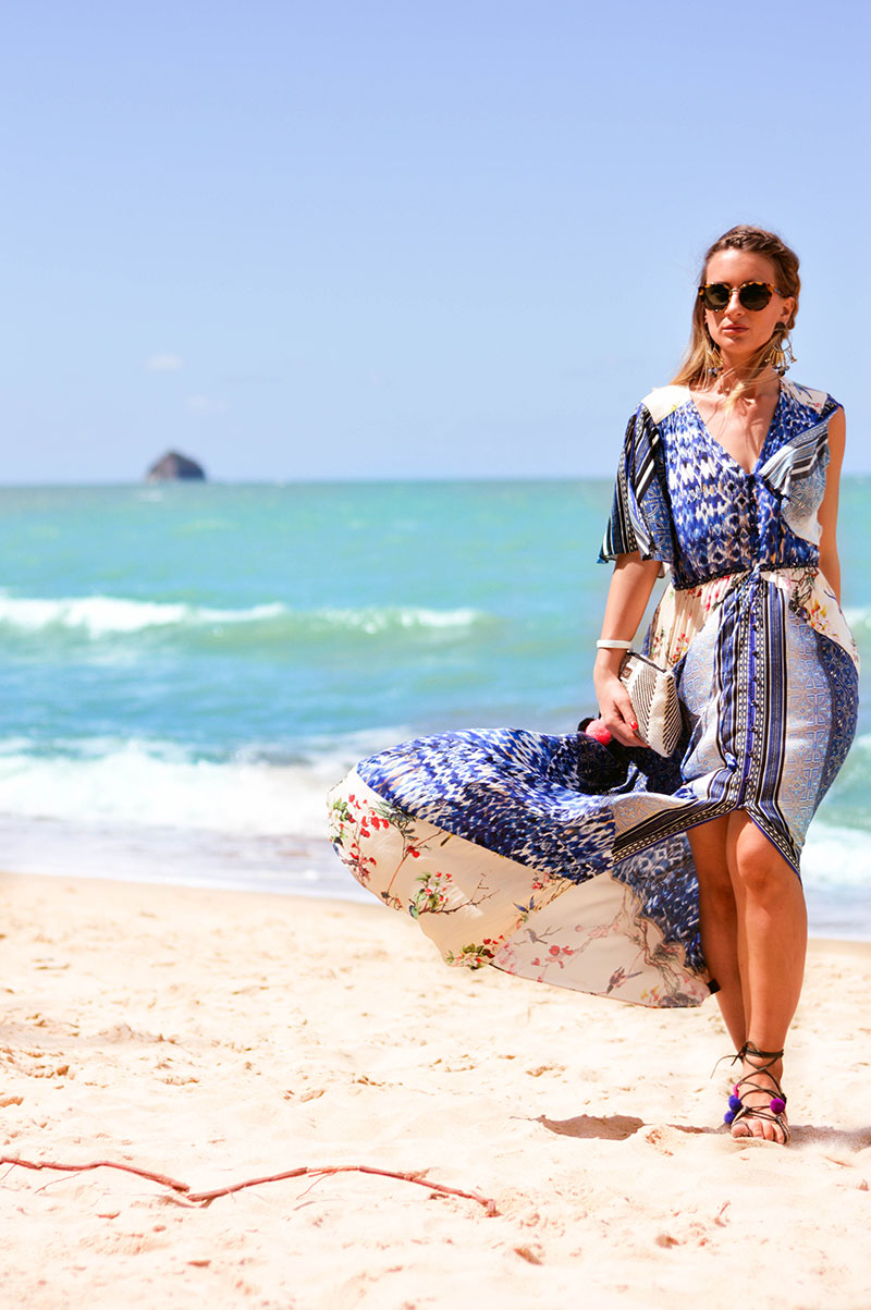 How To Wear A Boho Maxi Dress For A Beach Holiday