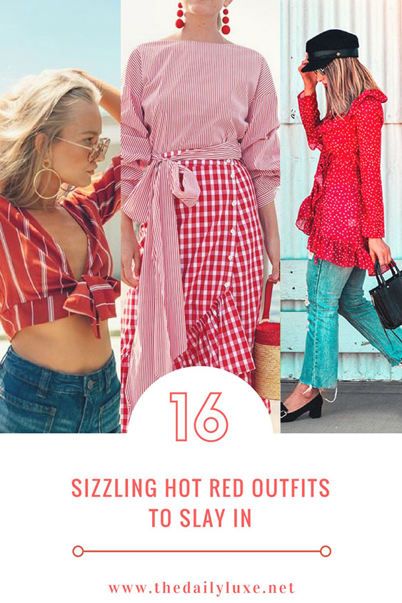 16 sizzling hot red outfits to slay in red outfit ideas