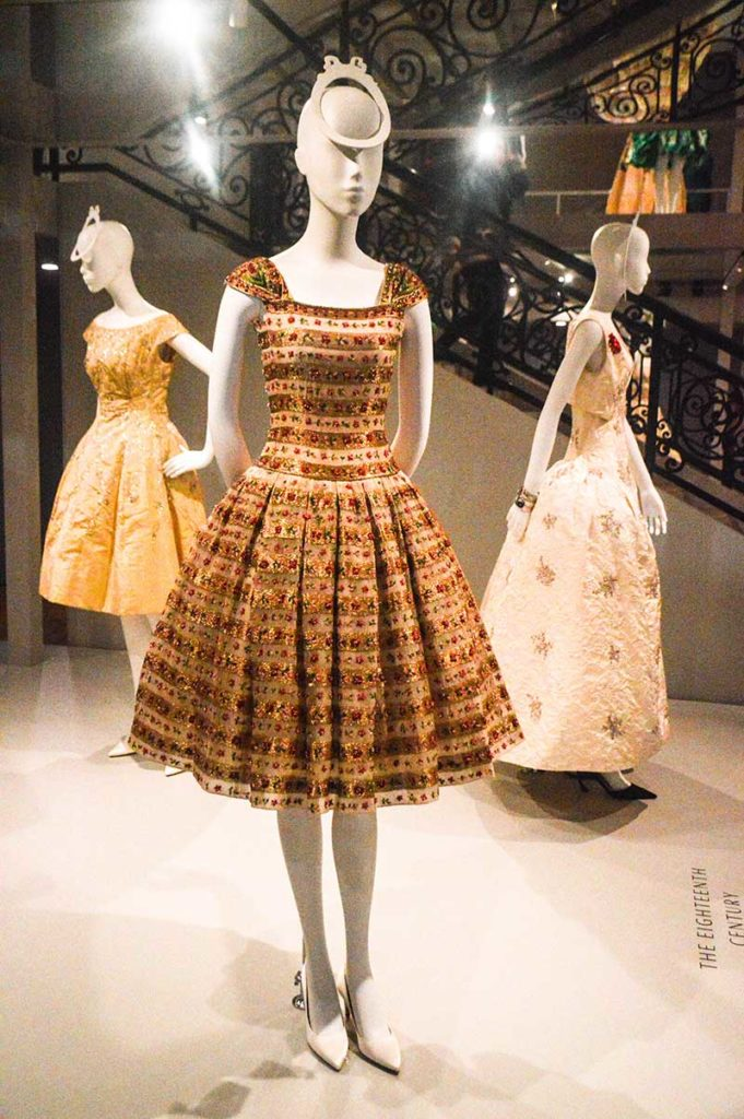 stunning Dior couture dresses at house of dior exhibition national gallery of victoria melbourne