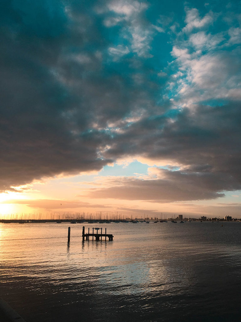 sunset from st kilda pier