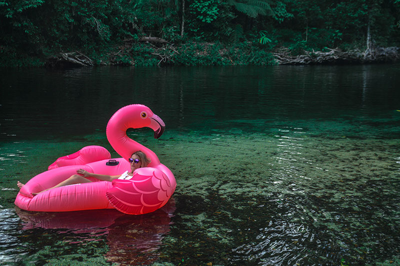 instagram inflatable pink unicorn babinda boulders far north queensland the daily luxe