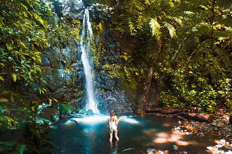 fashion blogger travels silver falls near nandroya falls cairns north queensland