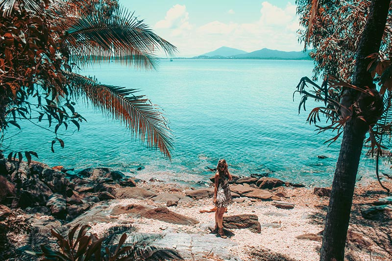 beach on dunk island tropical north queensland fashion travel blogger the daily luxe