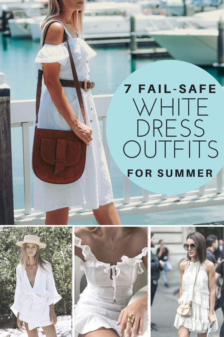 white dress outfits for summer 2018