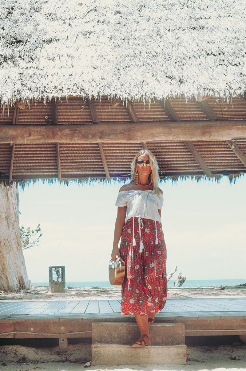 tropical north queensland boho chic outfit the daily luxe wearing gypsett