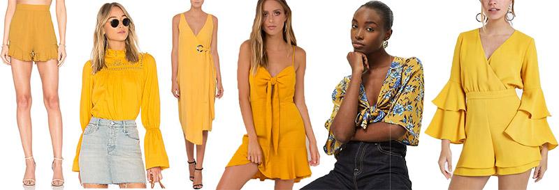 mustard colour trend 2018