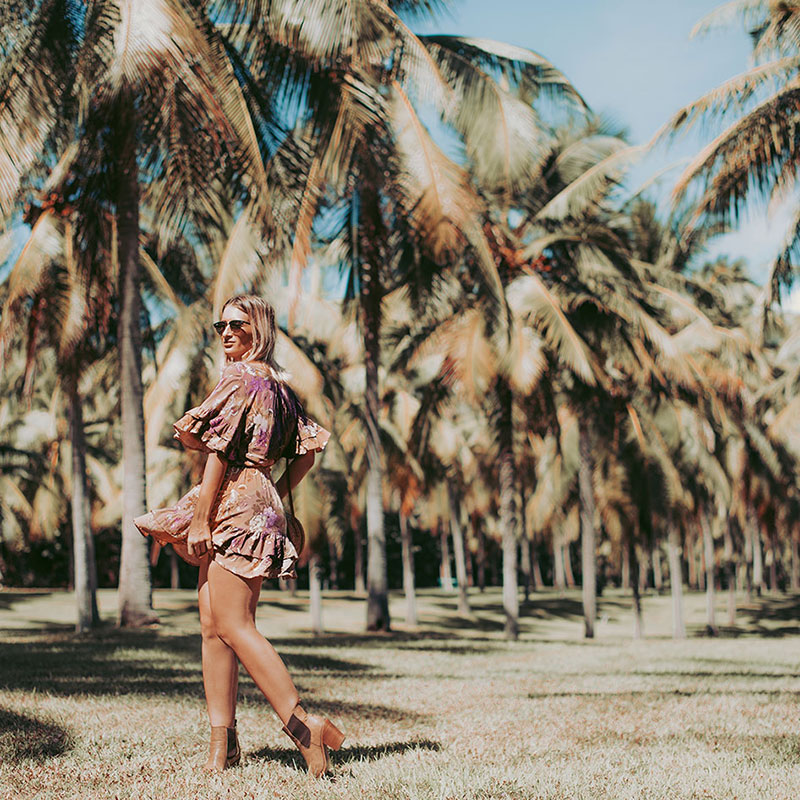 cairns fashion blogger wearing spell and the gypsy collecitve rosa dress boho summer outfit at thala beach