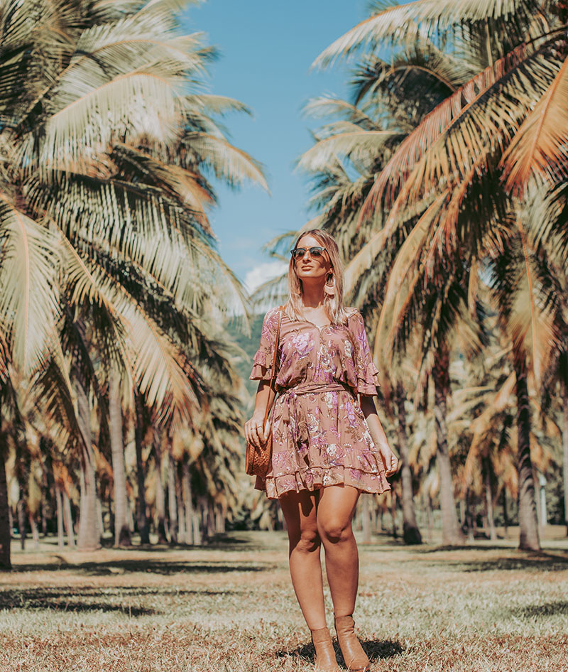 summer boho outfit spell designs rosa playdress and round basketbag the daily luxe